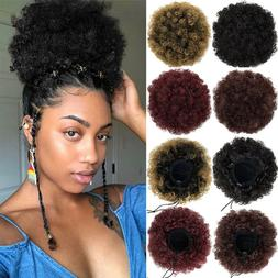 real thick afro kinky curly hair bun