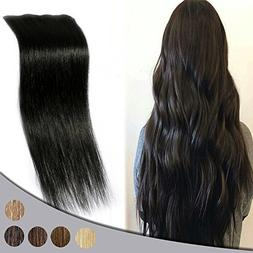 "Remy Clip in Hair Extensions 16"" 4pcs Real Human Hair Double"