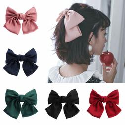 Satin Women's Hair Barrettes Hair Accessories Big Bow Hair C