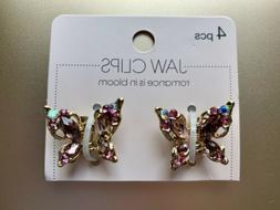 Scunci Butterfly Jaw Clips - Set of 2