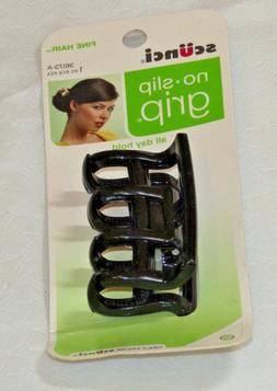 Scunci No Slip Grip Hair Jaw Clip for Fine Hair All Day Hold