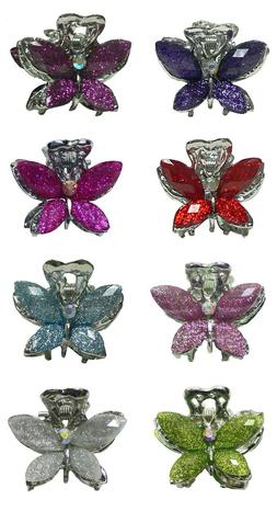 Set of 8 Mini Butterfly Claw Clips Jaw Clips Hair Clips for