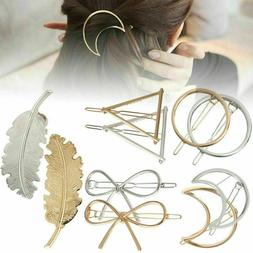 Sexy Geometric Shape Hair Clips Metal Ladies Hairpins Ponyta