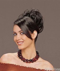 Short Wavy Clip In, Tease Midi, Synthetic Hair Piece, by Tre
