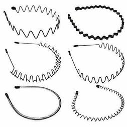 Simple Wave Headband five set hair band Men's Women's Unisex