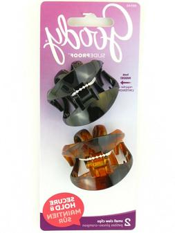 GOODY SMALL WINGLESS CLAW HAIR CLIPS - 2 PCS.