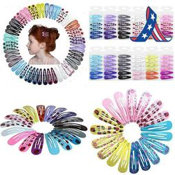 "Qtgirl Snap Hair Clips 72Pcs 2"" No Slip Metal Hair Clip Barr"