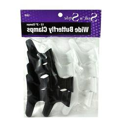 """SOFT 'N STYLE Salon Beauty Hair Plastic 3"""" Butterfly Clamps"""