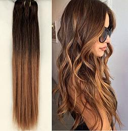 18 Inches Straight 100gr Full Head 100% Real Clip in Human H