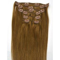 """Straight Remy Clip In On Hair 100% Human Hair Extensions 20"""""""