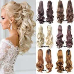 thick clip in pony tail hair extensions