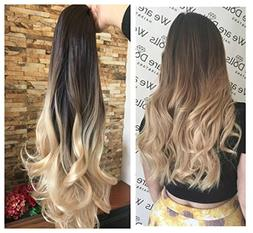 Thick Full Head Ombre Loose Curls Wavy Curly Clip-in Hair Ex