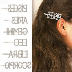 Tool Letters Hair Clips Twelve Constellations Shining Letter