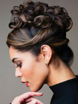 Revlon Twirl Ups Curly Hair Updo Synthetic Hairpiece Extensi