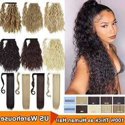 US Hair ponytail Clip In as Real Human Hair Extensions Wrap