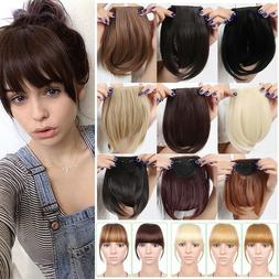 US Stock Side Bangs Clip on Neat Bang Fringes Clip in Hair E