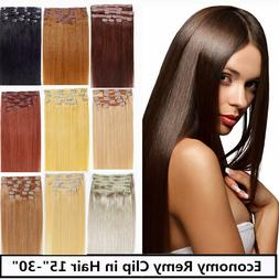 usa stock 22inch remy human hair clip