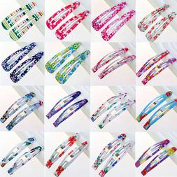 Wholesale 10Pcs Multicolour Hair Snap Clips Claws Girls Wome