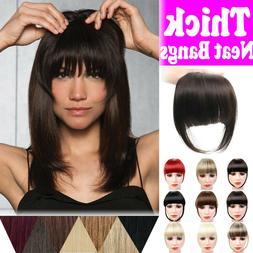 Women Clip-in on Bangs Fringe Fake Hair Extension Straight F