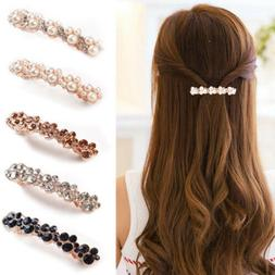 Women Hair Barrette Clip French Clips Barrettes Slide Slides