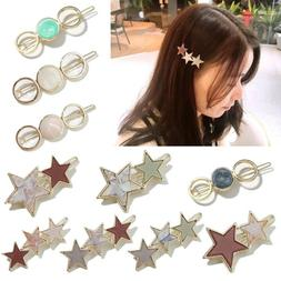 Women Marble Textured Faux Crystal Hollow Out Circle Star Sh