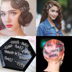 Women's Fashion Rhinestone Hair Clip Pin Crystal Letters Hai