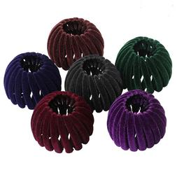 Women's Velvet Hair Clips Pins Nest Hairpin Ponytail Hair Bu