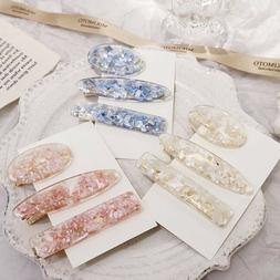 womens girl acrylic hair clips hairpin barrette