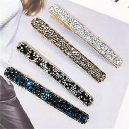 Womens Rhinestone Hairpins Alligator Hair Clips Hair Accesso