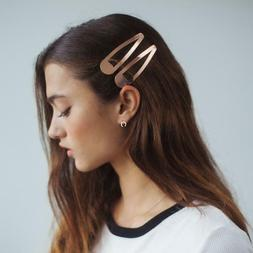 Kitsch XL Snap Clips for Hair, 14k Gold Plated, Premium, Ros